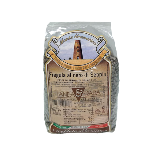 Immagine di FREGOLA SARDA AL NERO DI SEPPIA gr. 500 -TANDA E SPADA
